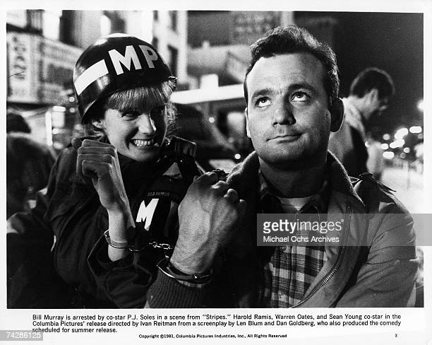 Actor Bill Murray is arrested by actress PJ Soles in the film 'Stripes' Photo by Michael Ochs Archives/Getty Images