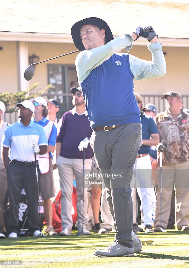 Actor Bill Murray is seen at the 3M Celebrity Challenge during the ATT Pebble Beach National ProAm at Pebble Beach Golf Links on February 10 2016 in...
