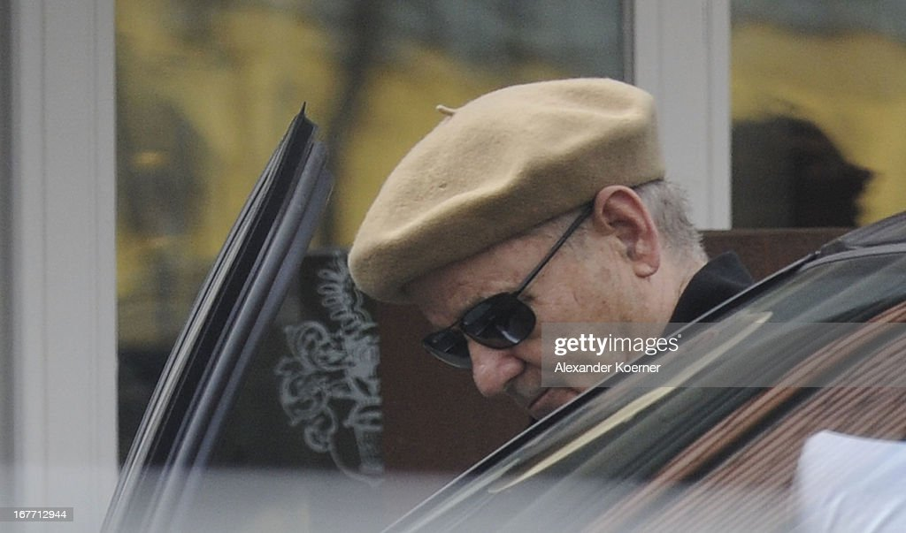 Actor <a gi-track='captionPersonalityLinkClicked' href=/galleries/search?phrase=Bill+Murray&family=editorial&specificpeople=171116 ng-click='$event.stopPropagation()'>Bill Murray</a> is seen in front of his hotel on April 28, 2013 in Ilsenburg, Germany. Murray stars in 'The Monuments Men' directed by George Clooney, which is being filmed on several locations in the state of Lower Saxony and around Germany.