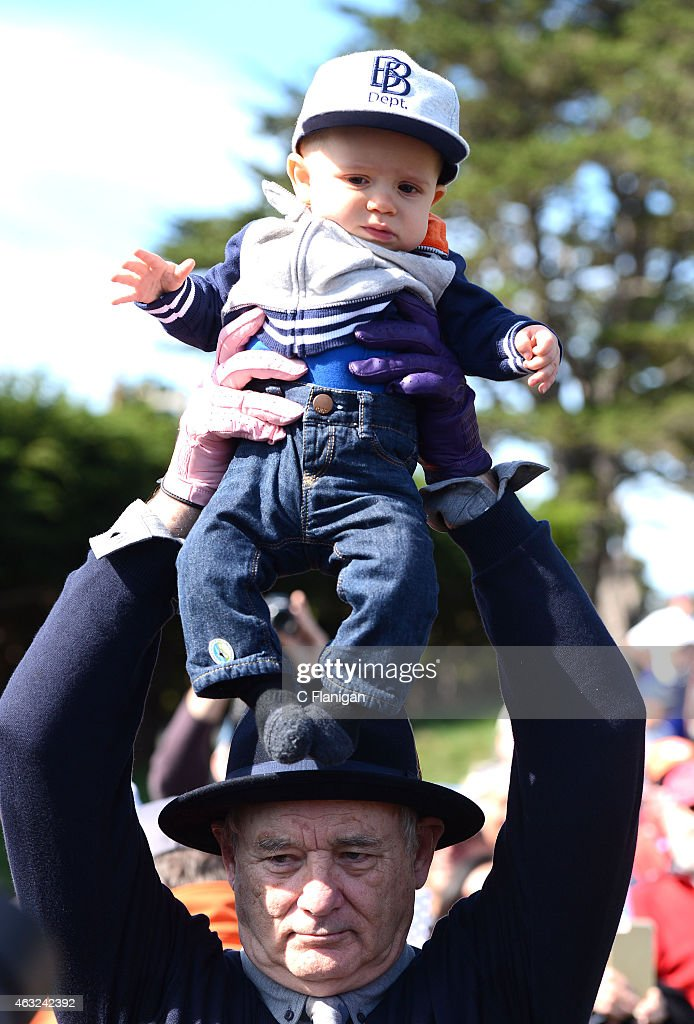 Actor Bill Murray is seen on the 17th hole during the 3M Celebrity Challenge before the AT&T Pebble Beach National Pro-Am at the Pebble Beach Golf Links on February 11, 2015 in Pebble Beach, California.