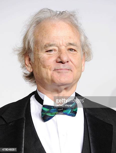 Actor Bill Murray poses in the press room during the 86th Annual Academy Awards at Loews Hollywood Hotel on March 2 2014 in Hollywood California