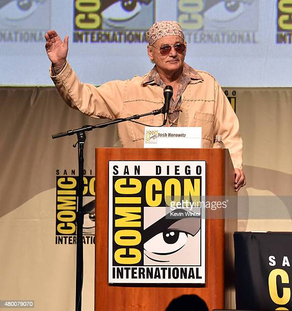 Actor Bill Murray speaks onstage at the Open Road panel during ComicCon International 2015 at the San Diego Convention Center on July 9 2015 in San...