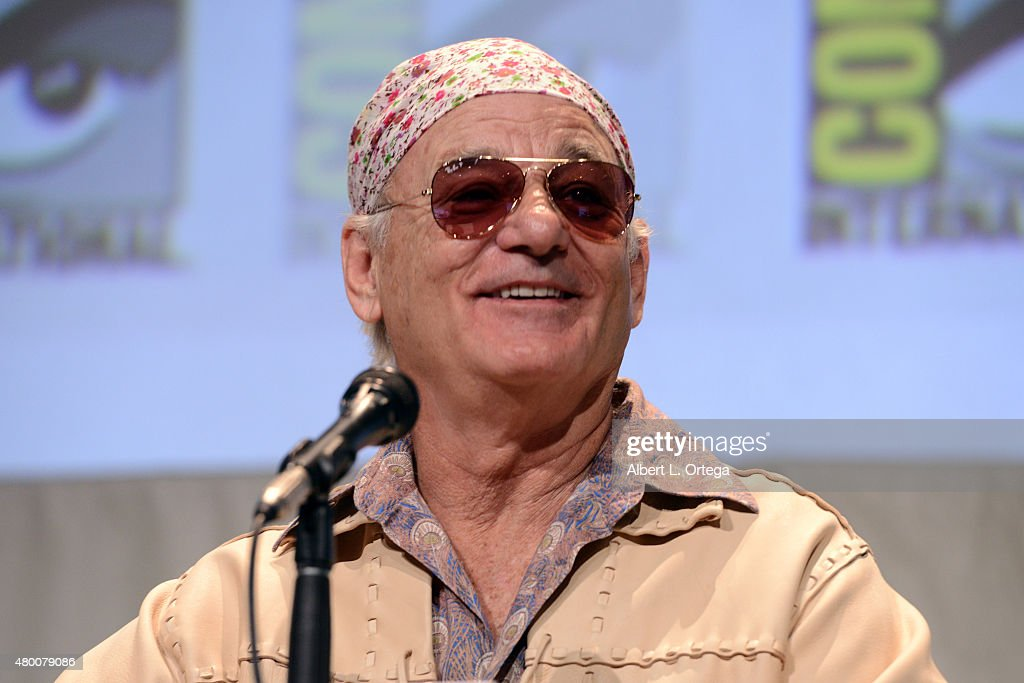 Actor <a gi-track='captionPersonalityLinkClicked' href=/galleries/search?phrase=Bill+Murray&family=editorial&specificpeople=171116 ng-click='$event.stopPropagation()'>Bill Murray</a> speaks onstage at the Open Road panel during Comic-Con International 2015 at the San Diego Convention Center on July 9, 2015 in San Diego, California.