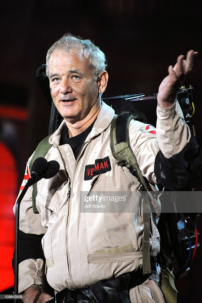 Actor Bill Murray speaks onstage during Spike TV's 'Scream 2010' at The Greek Theatre on October 16 2010 in Los Angeles California