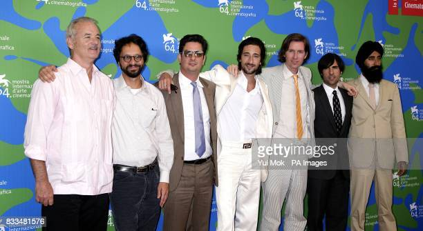 Actor Bill Murray Wallace Wolodarsky writer Roman Coppola actor Adrien Brody director Wes Anderson and actor / writer Jason Schwartzman and actor...