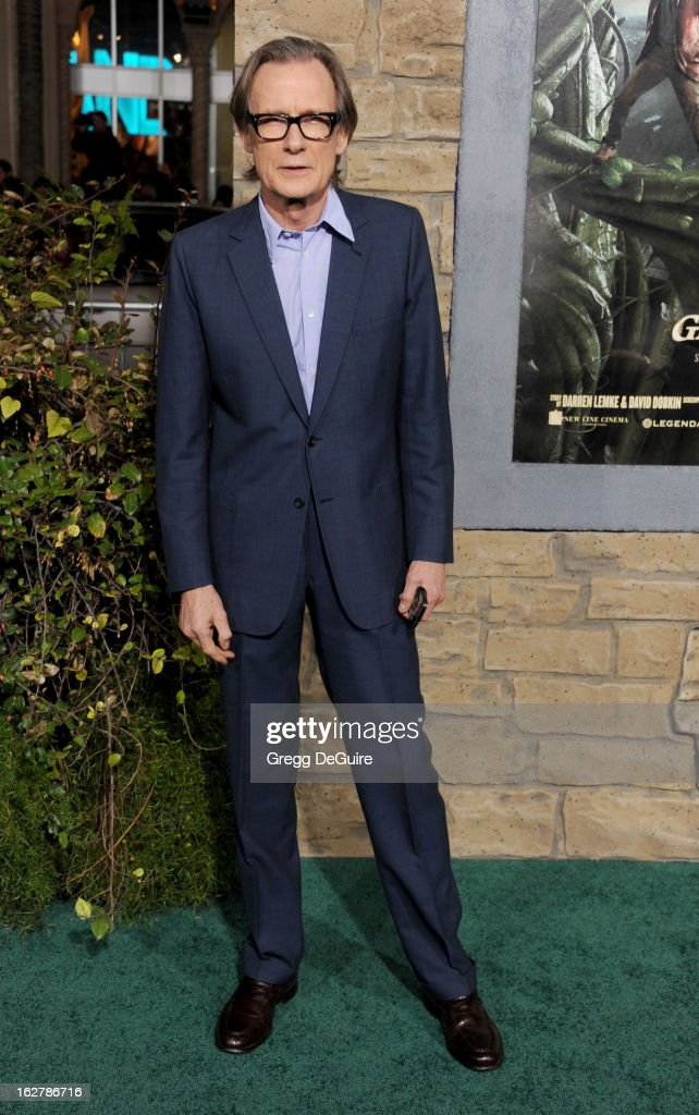 Actor Bill Nighy arrives at the Los Angeles premiere of 'Jack The Giant Slayer' at TCL Chinese Theatre on February 26, 2013 in Hollywood, California.