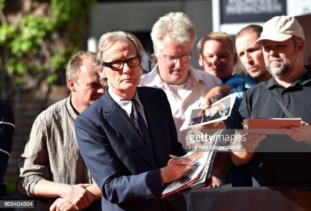 Actor Bill Nighy arrives at the premiere of 'Ihre Beste Stunde' as closing movie of Munich Film Festival 2017 at Gasteig on July 1 2017 in Munich...