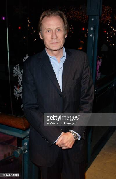 Actor Bill Nighy attends the afterparty for the film Bridget Jones The Edge Of Reason held at the Tobacco Dock in east London