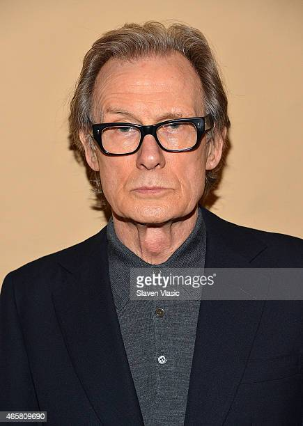 Actor Bill Nighy attends the photo call for the Broadway production of 'Skylight' at the Golden Theatre on March 10 2015 in New York City