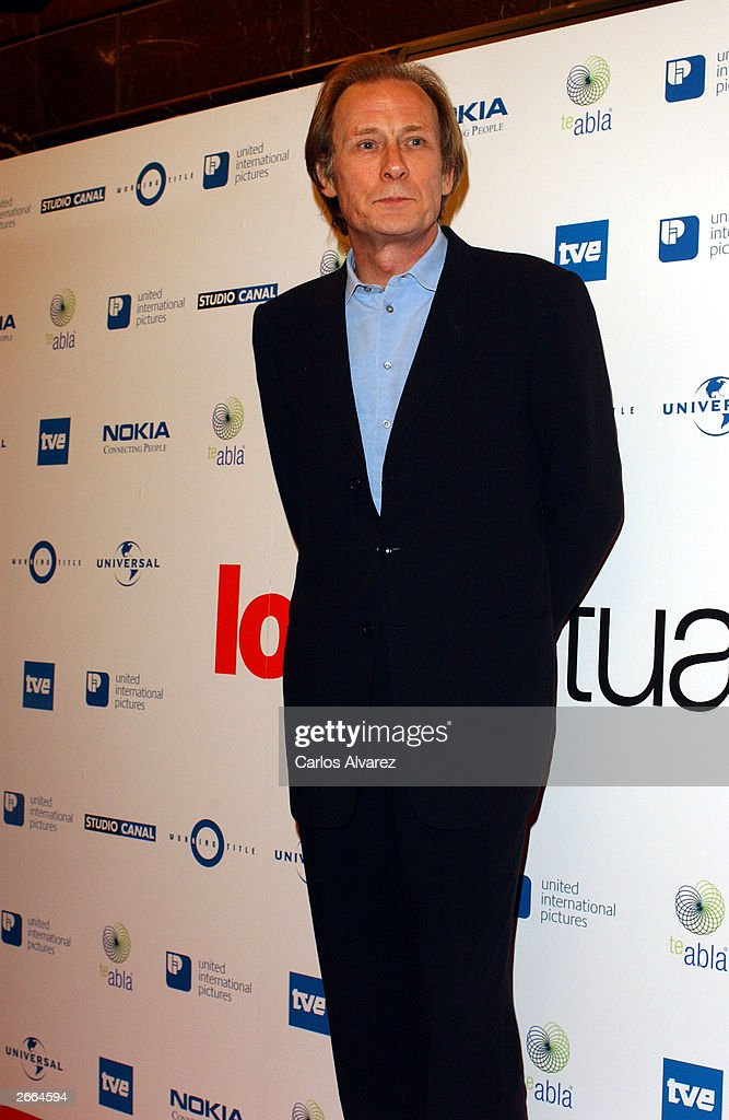 Actor Bill Nighy attends the premiere of his new movie 'Love Actually' at Palacio de la Musica Cinema October 27, 2003 in Madrid.