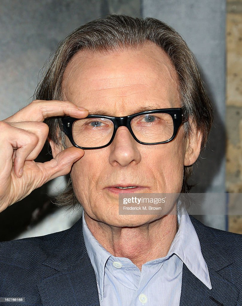 Actor <a gi-track='captionPersonalityLinkClicked' href=/galleries/search?phrase=Bill+Nighy&family=editorial&specificpeople=201599 ng-click='$event.stopPropagation()'>Bill Nighy</a> attends the Premiere Of New Line Cinema's 'Jack The Giant Slayer' at the TCL Chinese Theatre on February 26, 2013 in Hollywood, California.