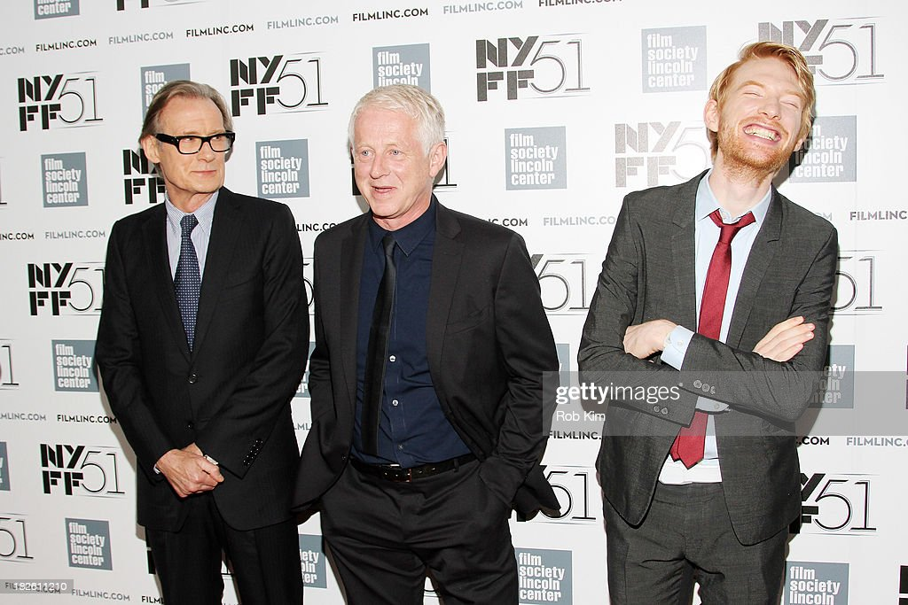 Actor <a gi-track='captionPersonalityLinkClicked' href=/galleries/search?phrase=Bill+Nighy&family=editorial&specificpeople=201599 ng-click='$event.stopPropagation()'>Bill Nighy</a>, filmmaker <a gi-track='captionPersonalityLinkClicked' href=/galleries/search?phrase=Richard+Curtis+-+Screenwriter&family=editorial&specificpeople=209106 ng-click='$event.stopPropagation()'>Richard Curtis</a>, and actor <a gi-track='captionPersonalityLinkClicked' href=/galleries/search?phrase=Domhnall+Gleeson&family=editorial&specificpeople=653261 ng-click='$event.stopPropagation()'>Domhnall Gleeson</a> attend the 'About Time' premiere during the 51st New York Film Festival at Alice Tully Hall at Lincoln Center on October 1, 2013 in New York City.