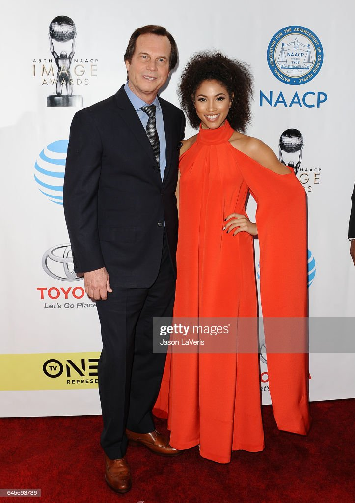 Actor Bill Paxton and actress Lex Scott Davis attend the 48th NAACP Image Awards at Pasadena Civic Auditorium on February 11, 2017 in Pasadena, California.