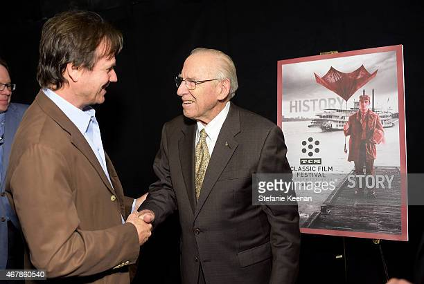 Actor Bill Paxton and astronaut Jim Lovell attend the screening of 'Apollo 13' during day two of the 2015 TCM Classic Film Festival on March 27 2015...