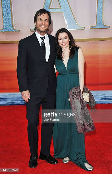 Actor Bill Paxton and Louise Newbury attend the 'Titanic 3D' world premiere at the Royal Albert Hall on March 27 2012 in London England