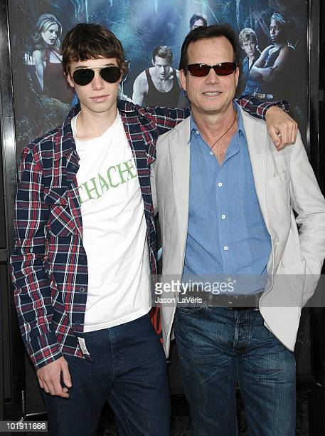 Actor Bill Paxton and son James Paxton attend the third season premiere of HBO's 'True Blood' at ArcLight Cinemas Cinerama Dome on June 8 2010 in...