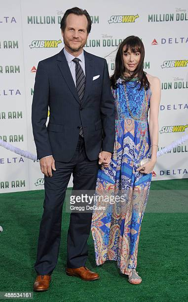Actor Bill Paxton and wife Louise Newbury arrive at the Los Angeles premiere of 'Million Dollar Arm' at the El Capitan Theatre on May 6 2014 in...