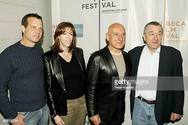 Actor Bill Paxton Tribeca Film Festival CoFounder Jane Rosenthal actor Sir Ben Kingsley and Robert De Niro arrive at the 'Thunderbirds' screening...