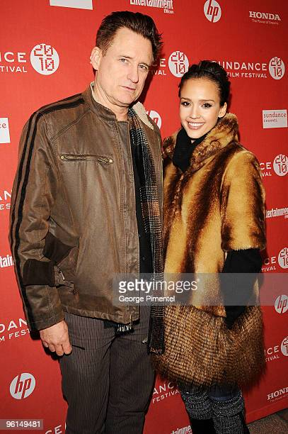 Actor Bill Pullman and actress Jessica Alba attend 'The Killer Inside Me' premiere during the 2010 Sundance Film Festival at Eccles Center Theatre on...