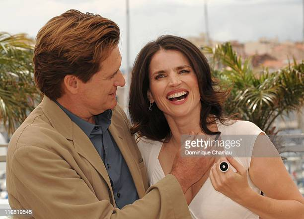 Actor Bill Pullman and actress Julia Ormond attend the 'Surveillance' photocall at the Palais des Festivals during the 61st International Cannes Film...