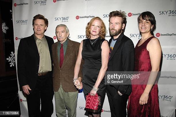 Actor Bill Pullman playwright Edward Albee actress Johanna Day actor Dallas Roberts and director Pam MacKinnon attend the 'Peter and Jerry' opening...