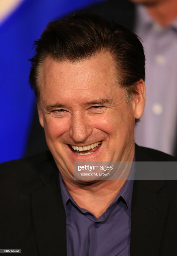 Actor Bill Pullman speaks onstage at the '1600 Penn' panel session during the NBCUniversal portion of the 2013 Winter TCA Tour- Day 3 at the Langham Hotel on January 6, 2013 in Pasadena, California.