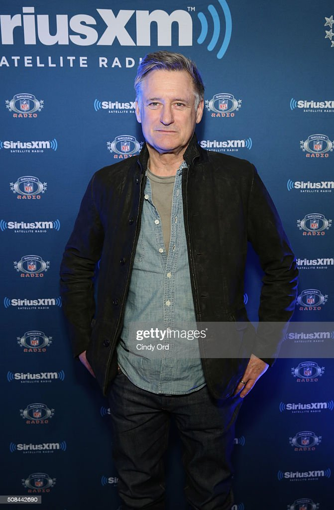 Actor Bill Pullman visits the SiriusXM set at Super Bowl 50 Radio Row at the Moscone Center on February 4 2016 in San Francisco California