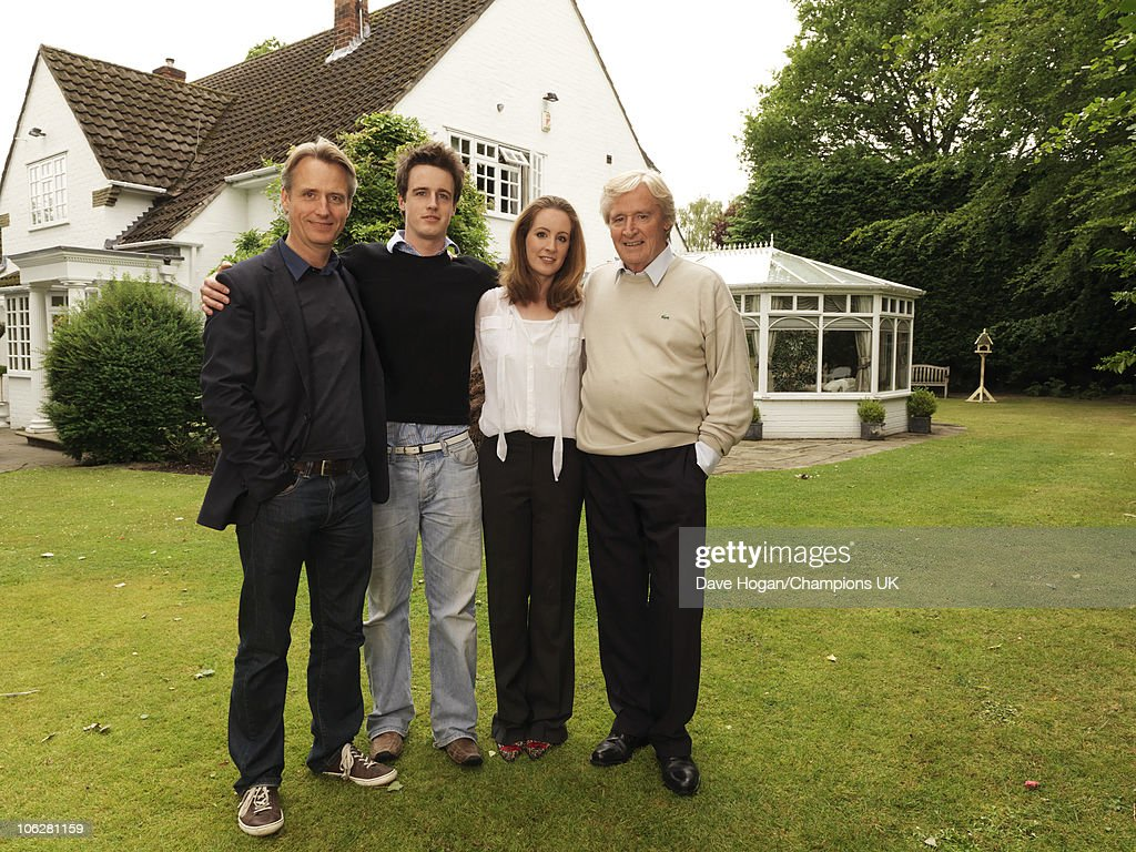 Actor Bill Roache with his children Linus, James and Verity pose for a portrait shoot at the actor's home in Wilmslow on July 12, 2010.
