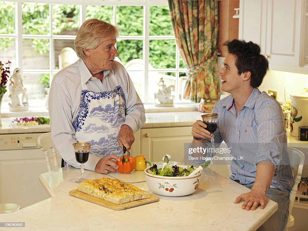 Actor Bill Roache with his son James pose for a portrait shoot at the actor's home in Wilmslow on July 12, 2010.