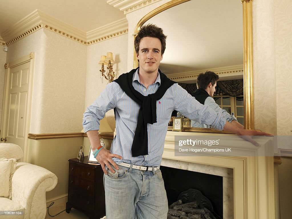 Actor Bill Roache's son James poses for a portrait shoot at the actor's home in Wilmslow on July 12, 2010.