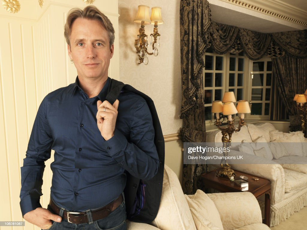 Actor Bill Roache's son <a gi-track='captionPersonalityLinkClicked' href=/galleries/search?phrase=Linus+Roache&family=editorial&specificpeople=592126 ng-click='$event.stopPropagation()'>Linus Roache</a> poses for a portrait shoot at the actor's home in Wilmslow on July 12, 2010.