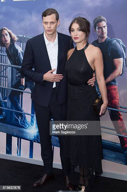 Actor Bill Skarsgard and guest attend the 'Allegiant' New York Premiere at AMC Loews Lincoln Square 13 theater on March 14 2016 in New York City