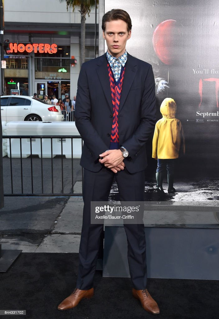 Actor Bill Skarsgard arrives at the premiere of 'It' at TCL Chinese Theatre on September 5, 2017 in Hollywood, California.