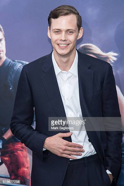 Actor Bill Skarsgard attends the 'Allegiant' New York Premiere at AMC Loews Lincoln Square 13 theater on March 14 2016 in New York City