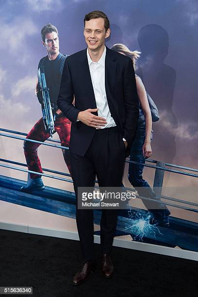 Actor Bill Skarsgard attends the 'Allegiant' New York premiere at AMC Lincoln Square Theater on March 14 2016 in New York City