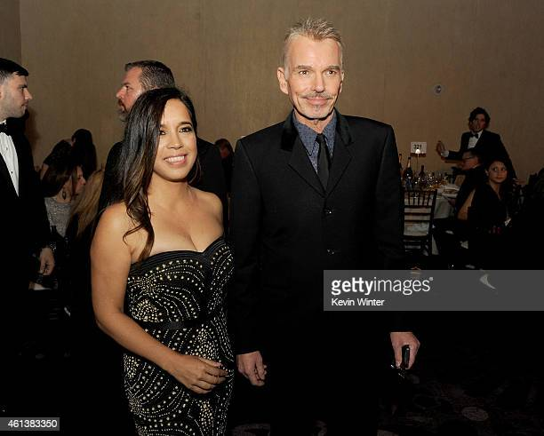 Actor Billy Bob Thornton and Connie Angland attend the 72nd Annual Golden Globe Awards cocktail party at The Beverly Hilton Hotel on January 11 2015...