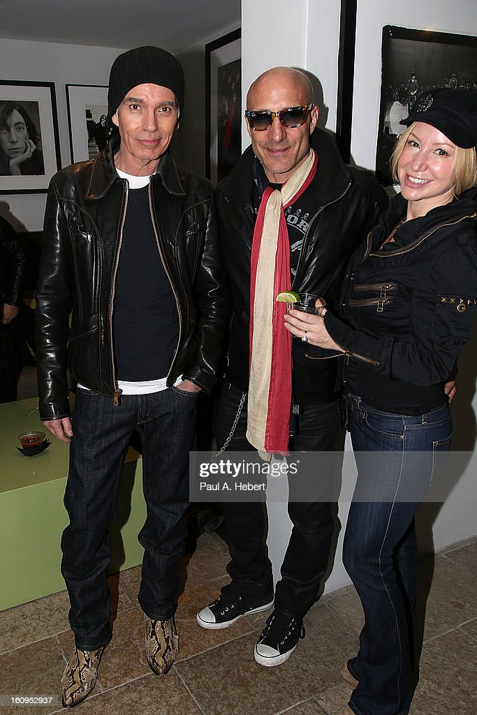 Actor Billy Bob Thornton (L) and drummer Kenny Aronoff (C) attend The Morrison Hotel Gallery Opening At The Sunset Marquis on February 7, 2013 in West Hollywood, California.