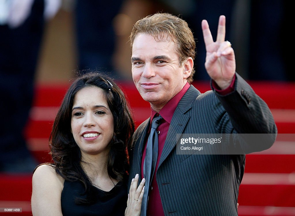Actor Billy Bob Thornton and girlfriend Connie Angland attend arrive at the screening of the film 'Bad Santa' at the Palais des Festivals during the 57th International Cannes Film Festival May 19, 2004 in Cannes, France.