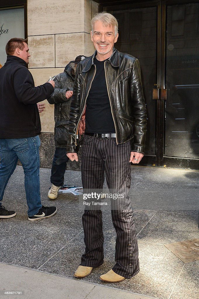 Actor Billy Bob Thornton enters his Midtown Manhattan hotel on April 10, 2014 in New York City.