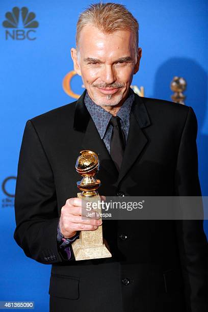 Actor Billy Bob Thornton poses in the press room during the 72nd Annual Golden Globe Awards at The Beverly Hilton Hotel on January 11 2015 in Beverly...