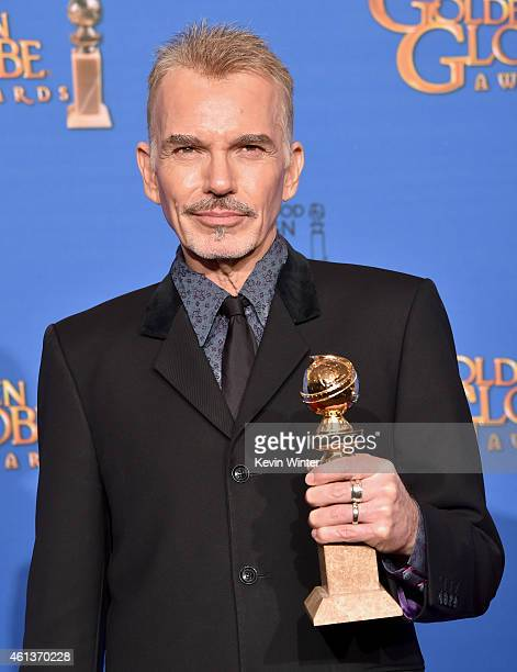 Actor Billy Bob Thornton winner of Best Actor in a Miniseries or Television Film for 'Fargo' poses in the press room during the 72nd Annual Golden...