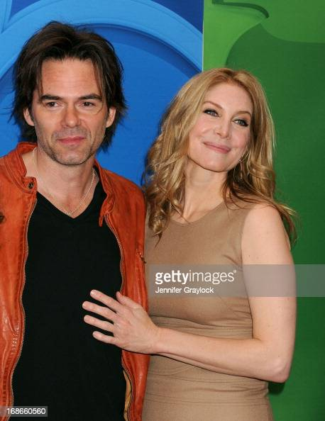Actor Billy Burke and Actress Elizabeth Mitchell attend the 2013 NBC Upfront Presentation Red Carpet Event at Radio City Music Hall on May 13 2013 in...