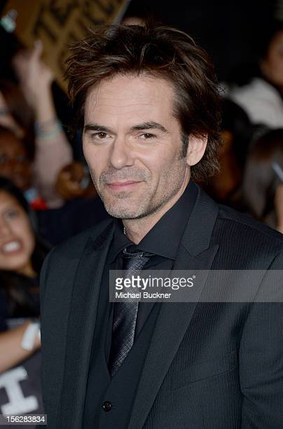 Actor Billy Burke arrives at the premiere of Summit Entertainment's 'The Twilight Saga Breaking Dawn Part 2' at Nokia Theatre LA Live on November 12...