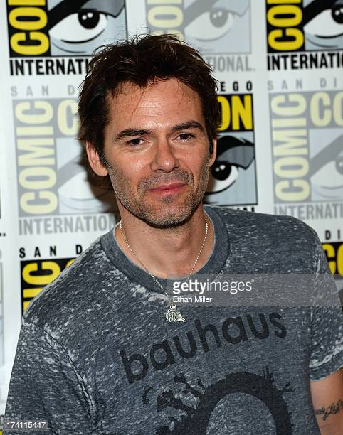 Actor Billy Burke attends NBC's 'Revolution' press line during ComicCon International 2013 at the Hilton San Diego Bayfront Hotel on July 20 2013 in...