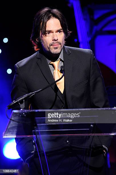 Actor Billy Burke speaks onstage at the VH1 Save The Music Foundation 2010 Gala at Cipriani Wall Street on November 8 2010 in New York City