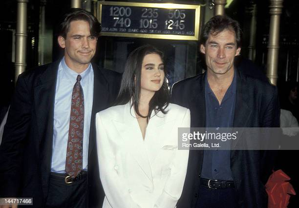 Actor Billy Campbell actress Jennifer Connelly and actor Timothy Dalton attend 'The Rocketeer' Hollywood Premiere in conjuction with the El Capital...