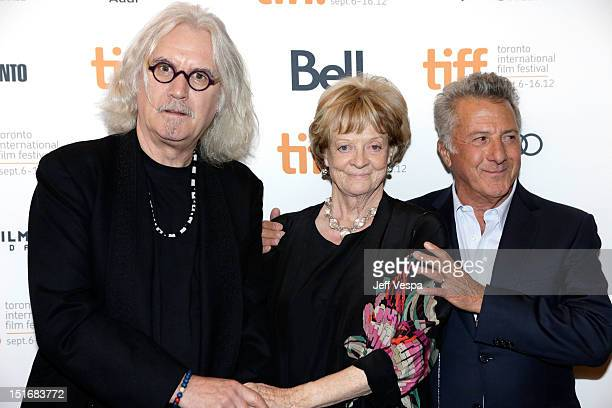 Actor Billy Connolly Actress Maggie Smith and Director Dustin Hoffman attend the 'Quartet' premiere during the 2012 Toronto International Film...