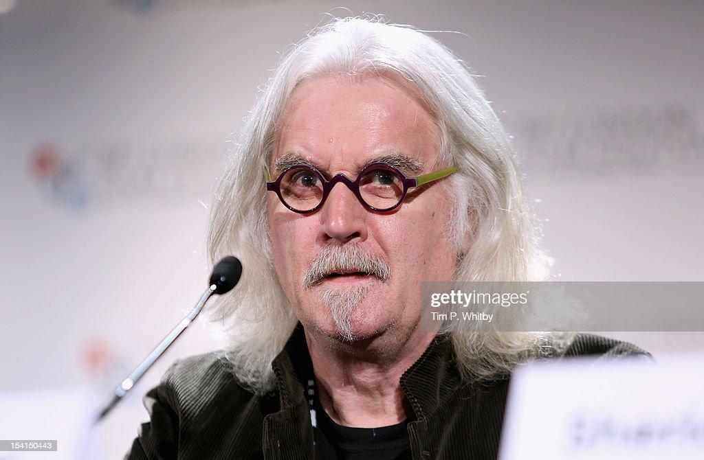 Actor <a gi-track='captionPersonalityLinkClicked' href=/galleries/search?phrase=Billy+Connolly&family=editorial&specificpeople=208248 ng-click='$event.stopPropagation()'>Billy Connolly</a> speaks as he attends the 'Quartet' press conference during the BFI London Film Festival at the Empire Leicester Square on October 15, 2012 in London, England.