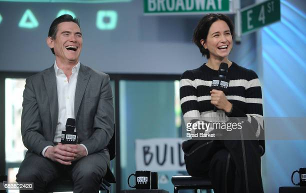 Actor Billy Crudup and Katherine Waterston attend Build presents Michael Fassbender Katherine Waterston Danny McBride and Billy Crudup discussing...