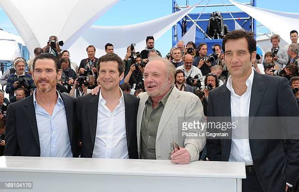 Actor Billy Crudup director Guillaume Canet actor James Caan and actor Clive Owen attends the photocall for 'Blood Ties' at The 66th Annual Cannes...